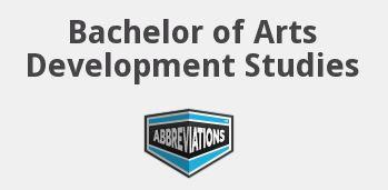 Bachelor of Arts in Development Studies
